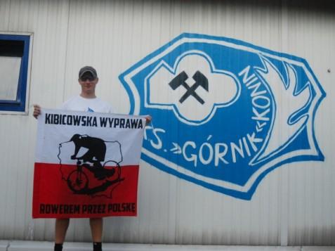 2500 km dla fundacji DOM. Kibic Odry Opole odwiedził Górnika