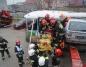 Wypadek autobusu. Strażacy ćwiczyli ewakuację pasażerów