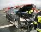 Mercedes zapalił się przed bramkami na autostradzie A2