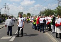 Manifestacja pracowników P ...