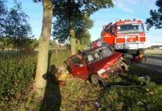 Wypadek w Sompolinku. W jednym z aut uwięziona była kobieta
