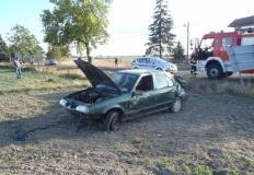 Śmiertelny wypadek niedaleko Koła. Kierowca uderzył w drzewo