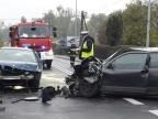 Konin. Zderzenie dwóch samochodów na ulicy Jana Pawła II