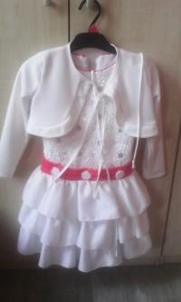 Sukienka biała dla dziewczynki