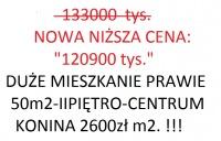 (NOWA CENA OKAZJA) DUZE MIESZKANIE OK.50m2.W CENTRUM-120tys