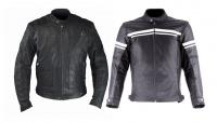 Klasyczne kurtki motocyklowe ze skóry  Ozone Sparrow i Falc