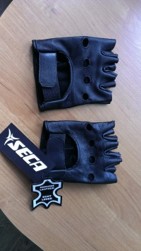Rękawice skórzane bez palców na motocykl NOWE