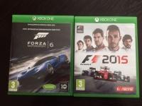 Sprzedam gry na XBOX ONE; F1 2015 i FORZA 6. STAN IDEALNY!