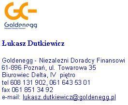 Łukasz Dutkiewicz - Goldenegg, Niezależni Doradcy Finansowi