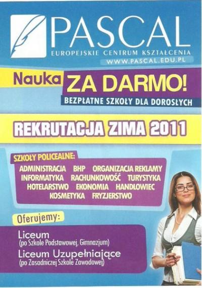 Europejskie Centrum Kształcenia PASCAL Sp. zo.o.