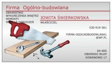 FIRMA OGOLNO-BUDOWLANA