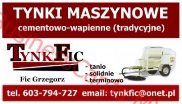 TynkFic - Tynki maszynowe cementowo - wapienne