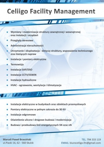 Celiigo Facility Management Marceli Paweł Brzeziński