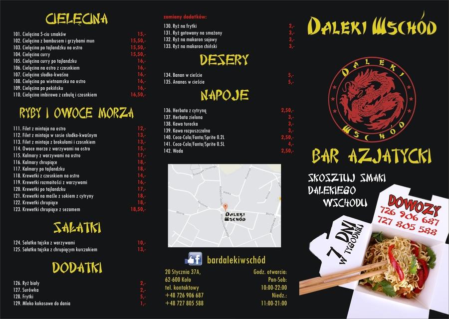 Firma Bar Daleki Wschód Kuchnia Azjatycka