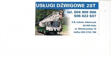 Usługi Dźwigowe 28T