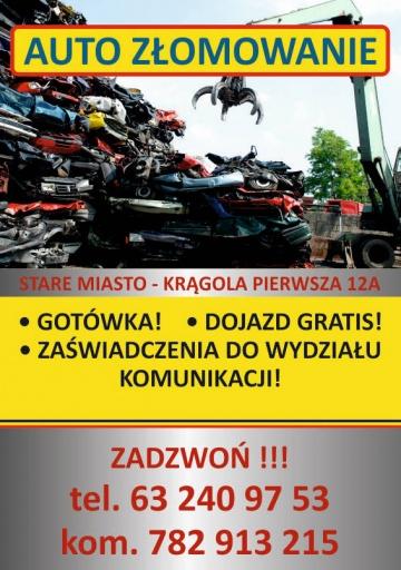 AUTO KASACJA KONIN/KOŁO/SŁUPCA/KALISZ/TUREK