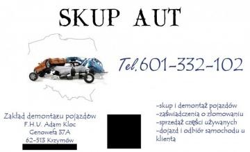 Skup Aut, Stacja Demontażu Pojazdów, Sprzedaż części