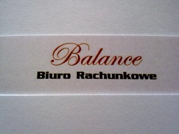 BALANCE BIURO RACHUNKOWE AGATA KLONECKA