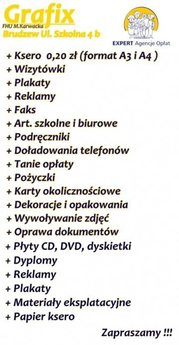 Agencja Opłat EXPERT, Firma Hand-Usługowa M.Karwacka