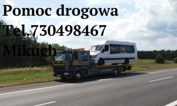 Holowanie pojazdów, pomoc drogowa Konin 24H Laweta Mikuch