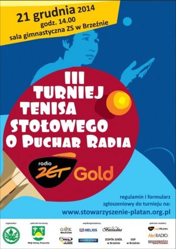 III Turniej Tenisa Stołowego o Puchar Radia ZetGOLD