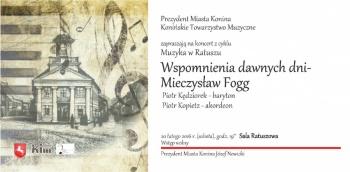 Wieczór z piosenkami Mieczysława Fogga