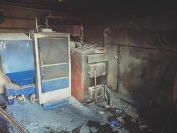 Pożar kotłowni. Strażacy przez godzinę walczyli z ogniem