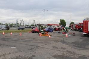 Siedem osób rannych w wypadku. Na szczęście to tylko ćwiczenia