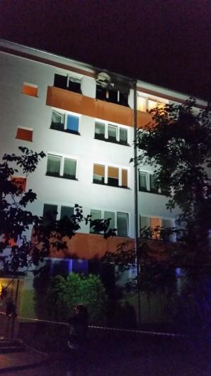 Pożar w bloku. Paliło się w mieszkaniu na czwartym piętrze