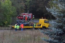 Śmiertelny wypadek w Kolonii Golina. Zginął kierowca BMW