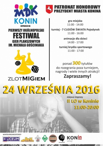 """Konin. Planszówkowy festiwal, czyli """"Zlot MIGiem"""" dla Michała"""