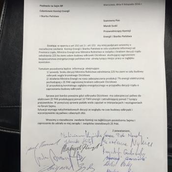 Poseł Tomasz Nowak zwołuje komisję w sprawie odkrywki Ościsłowo
