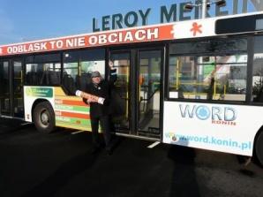 """Na ulice Konina wyjedzie autobus """"Odblask to nie obciach"""""""