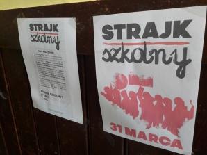 Konin. Nauczyciele strajkują. W I LO nie ma zajęć lekcyjnych