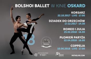 Balet Bolshoi sezon 2017/2018 - CKiS DK Oskard