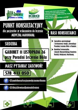 Konin. Medyczna marihuana bez tajemnic. Rusza punkt konsultacyjny