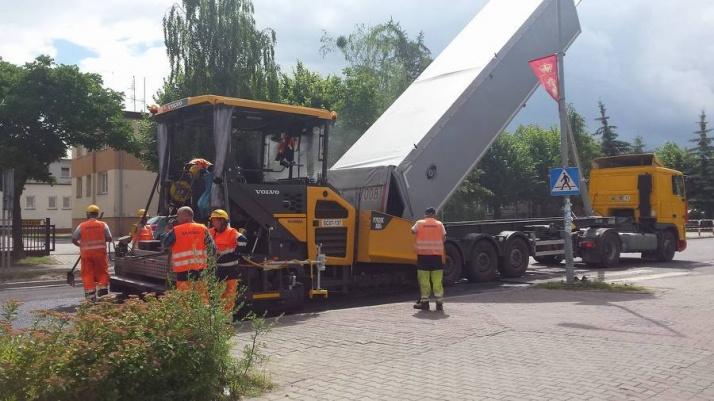 Licheń. Trwa przebudowa drogi prowadzącej do sanktuarium
