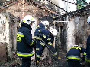 Pożar kotłowni w domu jednorodzinnym w miejscowości Polanowo