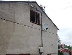 Żurawieniec. Pożar domu przez zwarcie instalacji elektrycznej