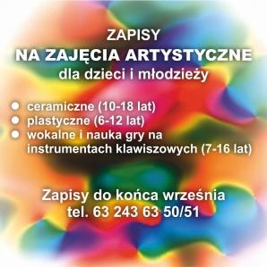 Zajęcia artystyczne dla dzieci i młodzieży w CKiS. Zapisz się już dziś!