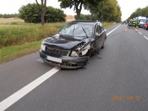Golina. Wypadek na drodze krajowej nr 92. Troje poszkodowanych