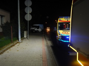 Koło. Nocny wypadek na skrzyżowaniu ul. Włocławskiej z Blizną