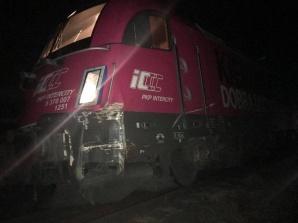 Rgielew. Zderzenie pociągu z samochodem ciężarowym