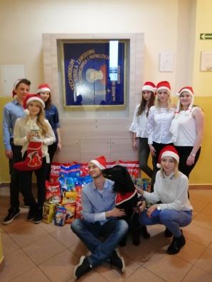 Uczniowie ZSTiH zebrali 130 kg karmy dla bezdomnych zwierząt