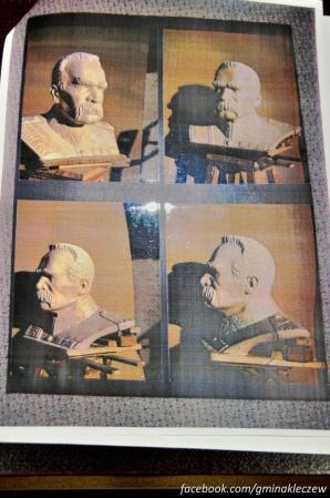 Kleczew. Popiersie J. Piłsudskiego na 100-lecie niepodległości
