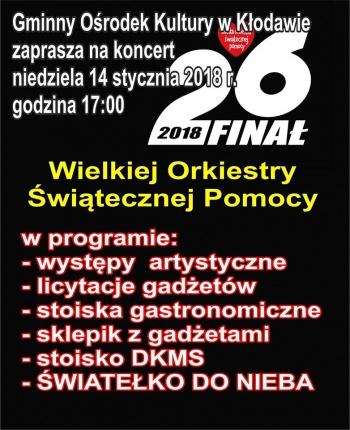 26. Finał WOŚP w Kłodawie