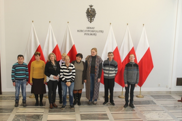 Pojechali do Warszawy na zaproszenie senator Margarety Budner