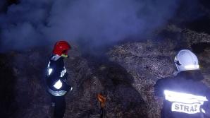 Podpalenie w Żerominie. Ogień strawił około 30 balotów słomy