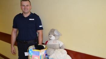 Turek. Dzielnicowy zorganizował zbiórkę zabawek dla 5-latka
