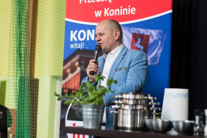 Robert Makłowicz gotował na Targach Przedsiębiorczości